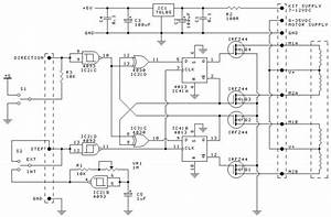 This Is The Circuit Design Of Unipolar Stepper Motor