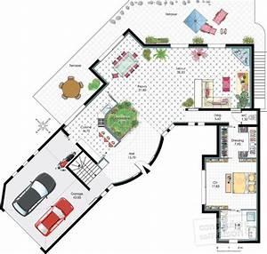 maison d39architecte 2 detail du plan de maison d With plan d architecte maison