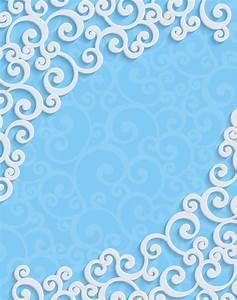 White Flower Pattern Background