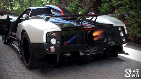 Pagani Zonda Cinque Roadster Flamethrower! Youtube