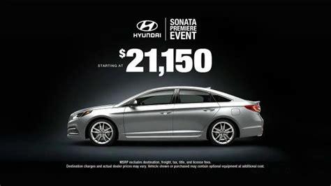 Hyundai Sonata Premiere Event Tv Commercial