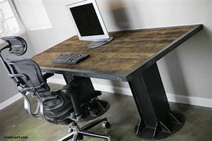 Modern Industrial Desk/ Table, Steel, I-Beam, Urban, Loft