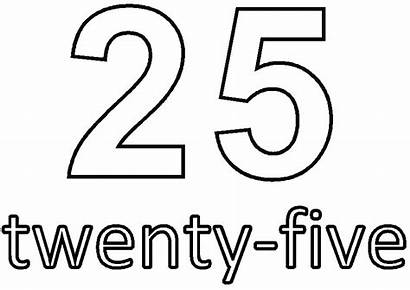 Number Coloring Twenty Pages Five Dice Printable