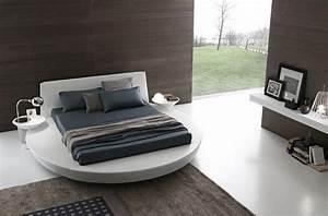 Lit rond design pour la chambre adulte moderne en 36 idees for Idee deco cuisine avec lit rond