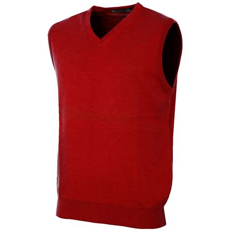 mens sweater vest proquip mens v neck golf merino water repellent sweater