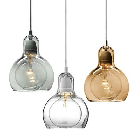 led glass pendant lights modern led light fixtures amber transparent clear glass