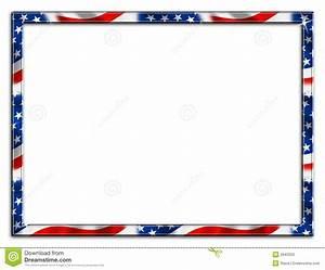 Patriotic Frame Border stock illustration. Image of ...
