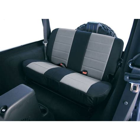 jeep wrangler backseat rugged ridge black gray neoprene rear seat cover 80 95 cj