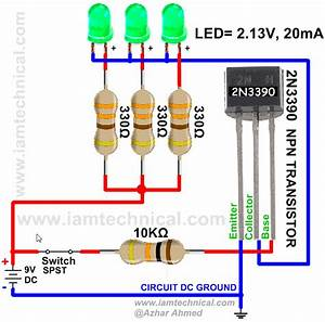Npn Transistor 2n3390 As A Switch