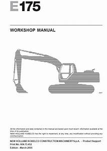 New Holland E175 Crawler Excavator Service Manual Repair