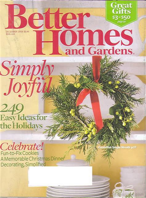 better homes and gardens past issues backissues com better homes and gardens december 2008 product details