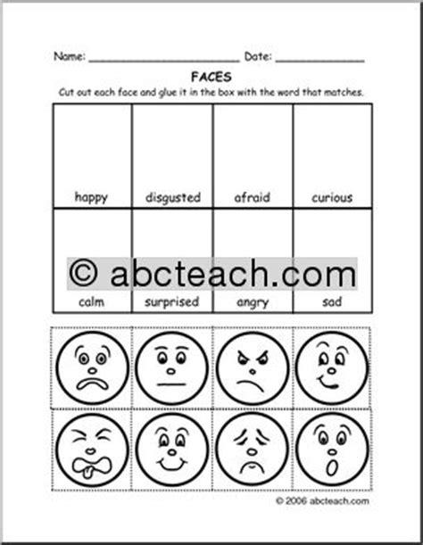 cut and paste feelings worksheets 15 best images of feelings faces worksheet printable
