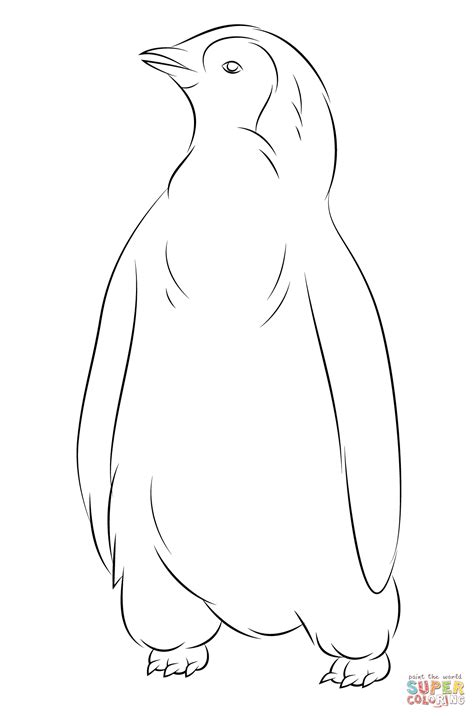 Cute Baby Penguin Coloring Pages Coloring Home
