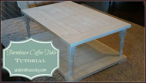 farmhouse coffee table   texas sky