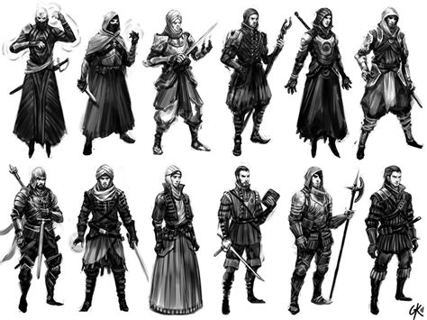 siege maje battle mage character thumbnails by gillesketting on