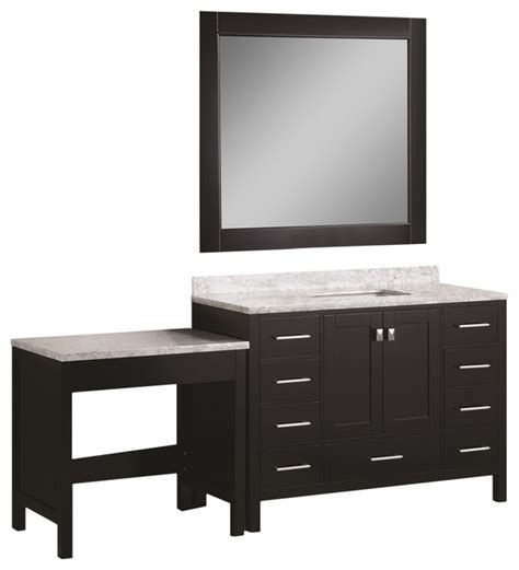single sink bathroom vanity with makeup table 48 quot single sink vanity set with make up table
