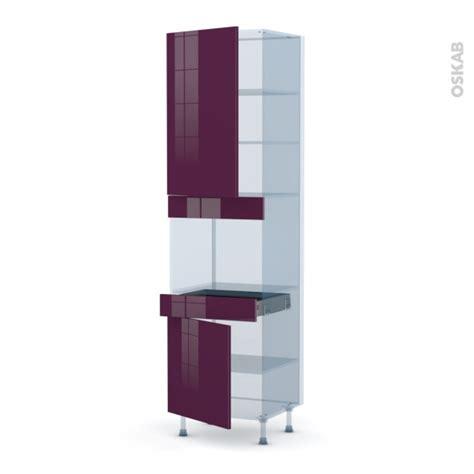meuble de cuisine aubergine keria aubergine kit rénovation 18 colonne four niche 45 n