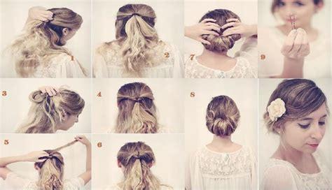 chignon facile  rapide coiffure simple  facile