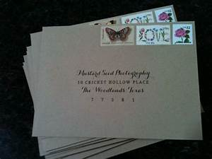 our vintage rustic envelopes for our save the dates With wedding invitations printed addresses