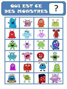 jeu qui est ce les monstres ok education pinterest With amazing couleur de peinture pour toilette 18 activites du mois