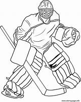 Coloring Goalie Pages Hockey Printable sketch template
