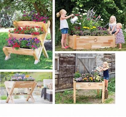 Garden Cascading Cedarcraft Planters Magazine Raised Bottom