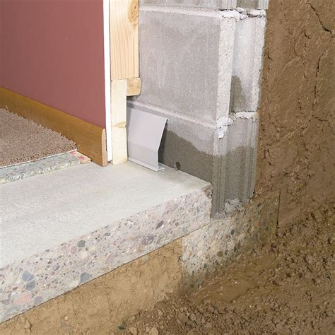 How To Waterproof Interior Basement Walls - water x tract basement waterproofing channel pro
