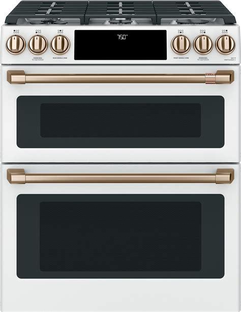 cgspmw cafe    double oven gas range matte white