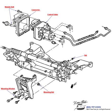 Corvette Brake Control Mod Valve Mounting Parts