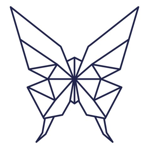 origami butterfly stroke butterfly transparent png svg