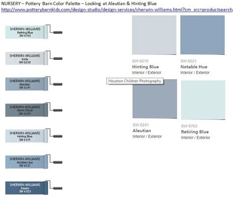 nursery pottery barn color palette looking at aleutian hinting blue http