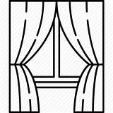 Window Curtain Drawing Curtains Clipart Stage Blinds Icon Transparent Glass Frame Line Icons Shades Furniture Broken Getdrawings Clipartmag Firany Wymiar sketch template