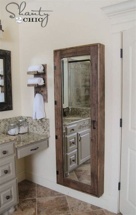 simple bathroom wall storage ideas shelterness