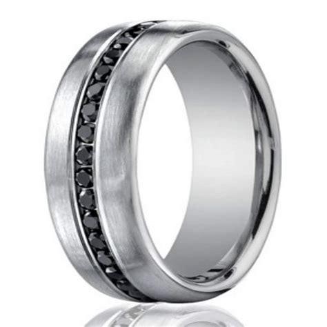 7 5mm men s 950 platinum black diamond eternity wedding