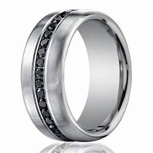 75mm mens 950 platinum black diamond eternity wedding With black diamond men wedding rings
