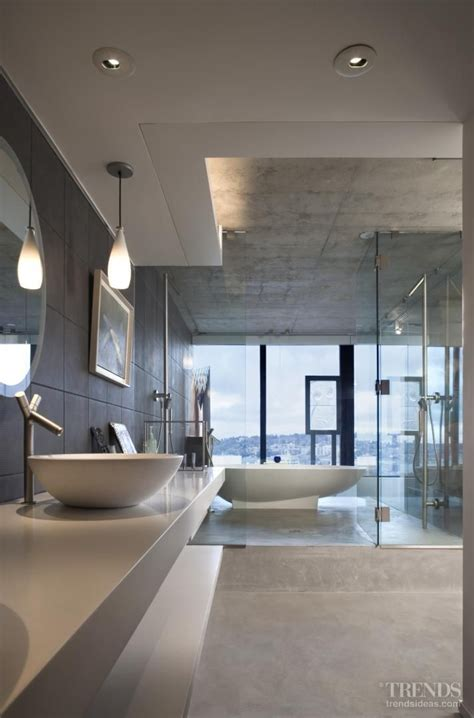 Modern Bathroom Designs From Rexa by Vanity With Cabinet Lighting And The Ceiling Details