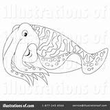 Cuttlefish Clipart Coloring Illustration Bannykh Alex Royalty Getcolorings Rf Sample sketch template