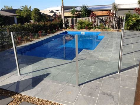 semi frameless glass fencing gold coast waterside pool