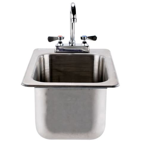 tabco stainless steel sinks advance tabco di 1 10 drop in stainless steel sink 10 quot