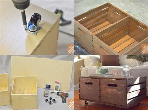 Base Per Lada Da Tavolo by Diy Wooden Crates Storage Ottoman Pictures Photos And