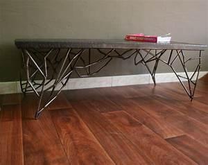 Table Basse Style Industriel : table acier brut pied dentelle 2 meuble industriel ~ Melissatoandfro.com Idées de Décoration
