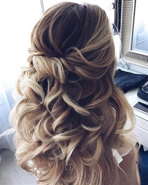 15 chic half up half down wedding hairstyles for hair emmalovesweddings