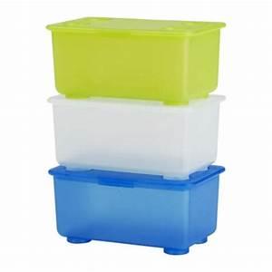 Ikea Box Weiß : glis box mit deckel wei hellgr n blau ikea ~ Sanjose-hotels-ca.com Haus und Dekorationen