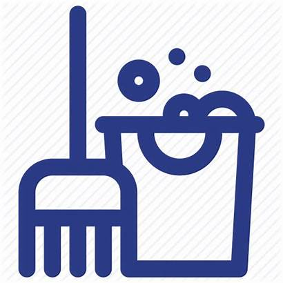 Cleaning Icon Clean Icons Mop Broom Bubbles