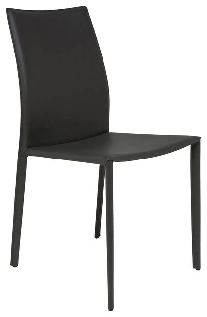leather dining chair gray contemporary