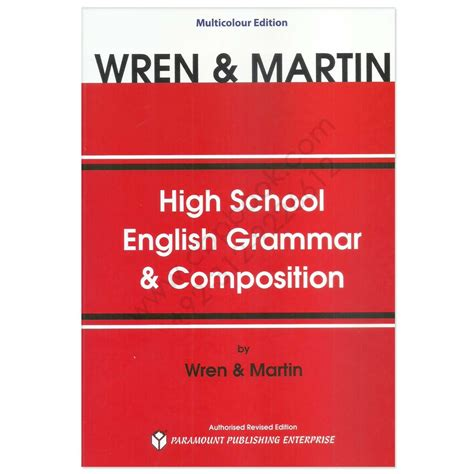 Wren And Martin High School English Grammar And Composition  Cbpbook  Pakistan's Largest