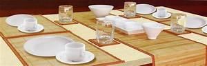 Set De Table En Bambou : ensemble bambou avec set de table bambou chemin de table ~ Premium-room.com Idées de Décoration