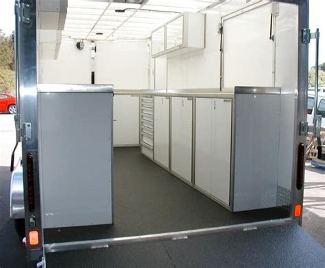 Enclosed Trailer Cabinets by Plan Your Enclosed Trailer Cabinet Layout For The Race Season