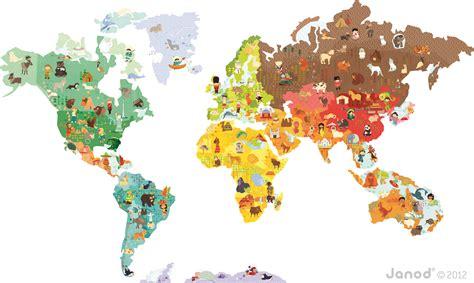 janod cuisine janod magnetyczna naklejka mapa świata zabawki