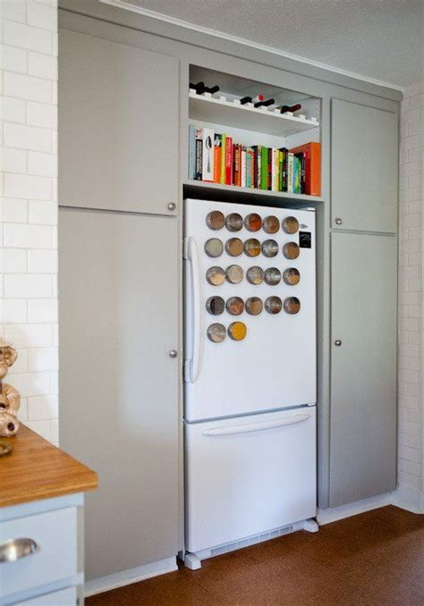 Ideas For Using That Awkward Space Above The Fridge  Diy